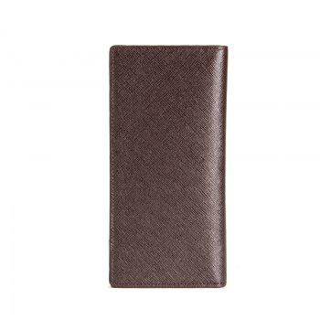 Creative Long Casual Bussiness Trifold PU Leather Wallet Credit Card Holder - COFFEE