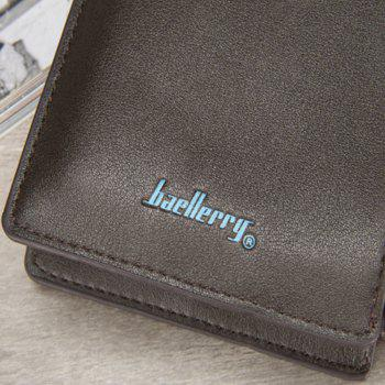 Baellerry Multi-Function Bifold Long Wallet Zip Fastener Multi Credit Card Holder - BROWN