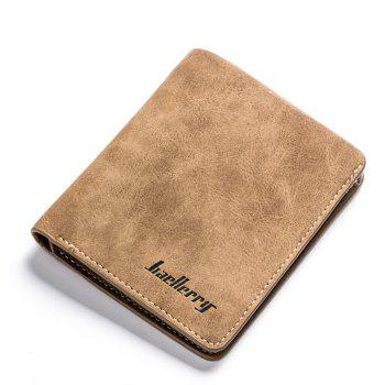 Vintage PU Leather Bifold Wallet Credit Card Holder - COFFEE COFFEE