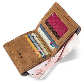 Baellerry Vintage PU Leather Bifold Wallet Credit Card Holder - COFFEE