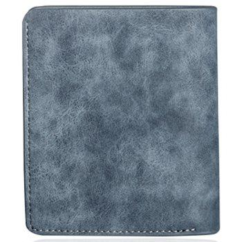 Baellerry Vintage PU Leather Bifold Wallet Credit Card Holder - BLUE