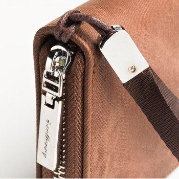 Fashion Men's Hand Bag Long Casual Bussiness Wallet Credit Card Holder - COFFEE