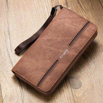 Baellerry Fashion Men's Hand Bag Long Casual Bussiness Wallet Credit Card Holder - COFFEE