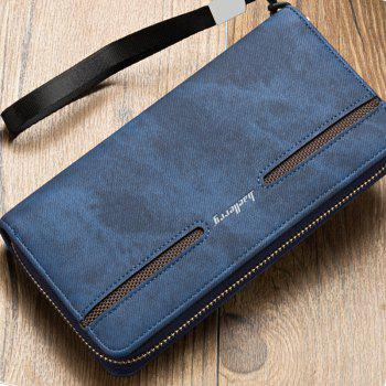 Baellerry Fashion Men's Hand Bag Long Casual Bussiness Wallet Credit Card Holder - BLUE