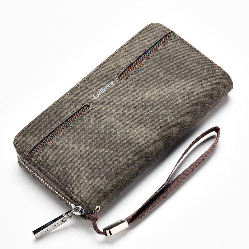 Fashion Men's Hand Bag Long Casual Bussiness Wallet Credit Card Holder - GRAY
