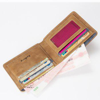 Baellerry Vintage Short PU Leather Bifold Wallet Credit Card Holder - COFFEE
