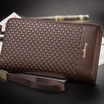 Baellerry Multi-function Men's Large Capacity Hand Bag Long Casual Wallet Credit Card Holder - BROWN