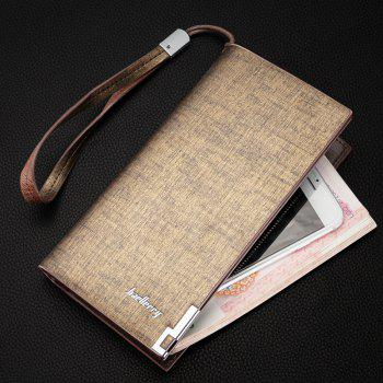 Baellerry Fashion Multi-function Large Capacity Zipper Hand Bag Business Long Wallet Credit Card Holder - GOLDEN