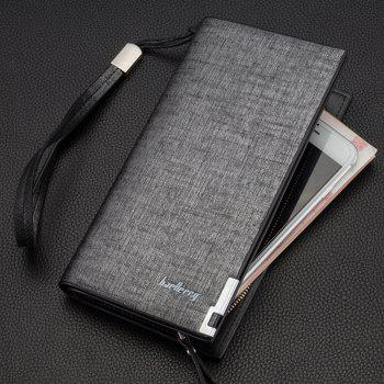 Baellerry Fashion Multi-function Large Capacity Zipper Hand Bag Business Long Wallet Credit Card Holder - GRAY