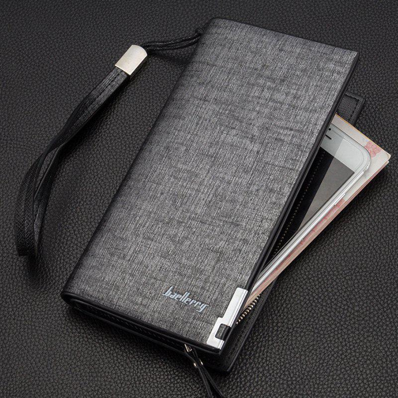 Fashion Multi-function Large Capacity Zipper Hand Bag Business Long Wallet Credit Card Holder - GRAY