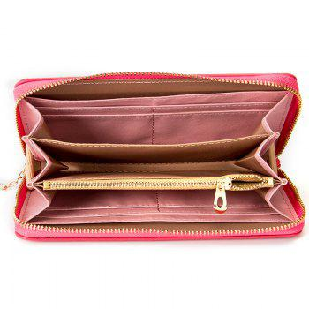 Creative Long Butterfly Purse Zipper  Large Capacity Bowknot Wallet Hand Bag - LIGHT RED