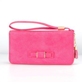 Creative Long Butterfly Purse Zipper  Large Capacity Bowknot Wallet Hand Bag - LIGHT RED LIGHT RED