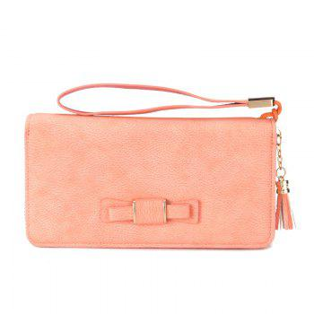 Creative Long Butterfly Purse Zipper  Large Capacity Bowknot Wallet Hand Bag - PINK PINK