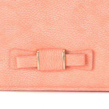 Creative Long Butterfly Purse Zipper  Large Capacity Bowknot Wallet Hand Bag -  PINK