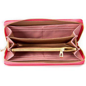 Baellerry Creative Long Butterfly Purse Zipper  Large Capacity Bowknot Wallet Hand Bag - ROSE RED