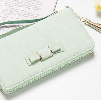 Baellerry Creative Long Butterfly Purse Zipper  Large Capacity Bowknot Wallet Hand Bag - GREEN