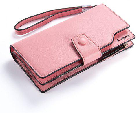 Baellerry Long Purse Large Capacity Zipper Wallet Hand Bag Credit Card Holder - PINK