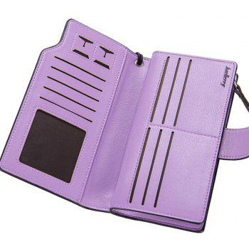 Baellerry Long Purse Large Capacity Zipper Wallet Hand Bag Credit Card Holder - PURPLE