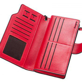 Baellerry Long Purse Large Capacity Zipper Wallet Hand Bag Credit Card Holder - RED