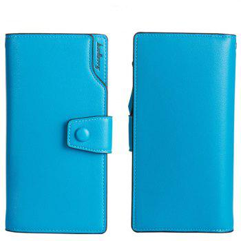 Baellerry Long Purse Large Capacity Zipper Wallet Hand Bag Credit Card Holder - BLUE