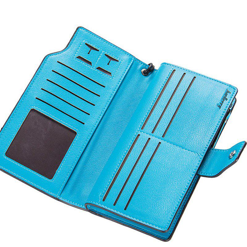 Long Purse Large Capacity Zipper Wallet Hand Bag Credit Card Holder - BLUE