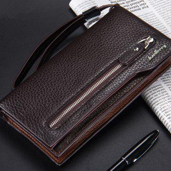 Fashion Multi-Function Men's Long Bussiness Wallet Large Capacity Hand Bag Credit Card Holder -  COFFEE