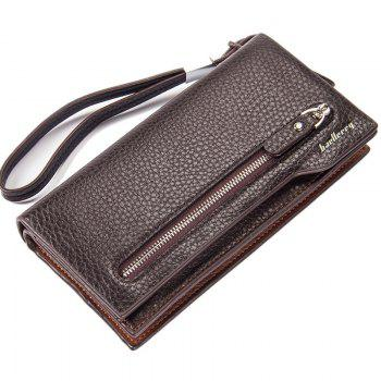 Fashion Multi-Function Men's Long Bussiness Wallet Large Capacity Hand Bag Credit Card Holder - COFFEE COFFEE