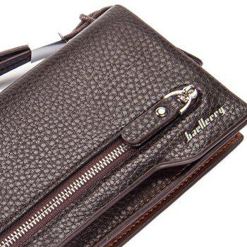Baellerry  Multi-Function Men's Long Bussiness Wallet Large Capacity Hand Bag Credit Card Holder - COFFEE
