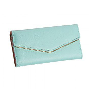 Women's Trifold Long Purse Casual Wallet Hand Bag Credit Card Holder - BLUE