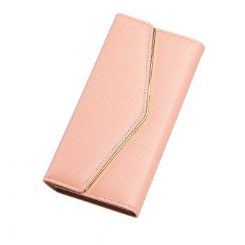 Women's Trifold Long Purse Casual Wallet Hand Bag Credit Card Holder - PINK PINK