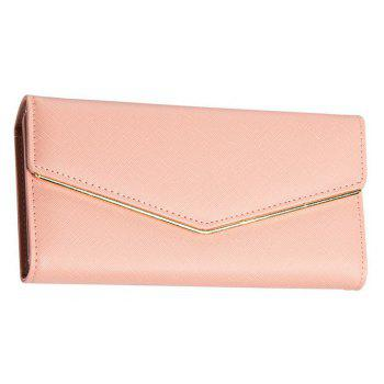 Baellerry Women's Trifold Long Purse Casual Wallet Hand Bag Credit Card Holder - PINK