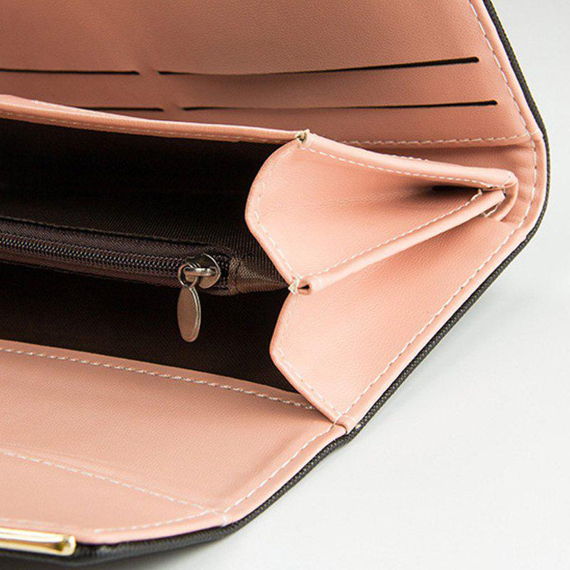 Women's Trifold Long Purse Casual Wallet Hand Bag Credit Card Holder - PINK
