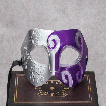Masquerade Party Mask Jazz Mask Prince Carved Mask Half Face Dance Masks - PURPLE PURPLE
