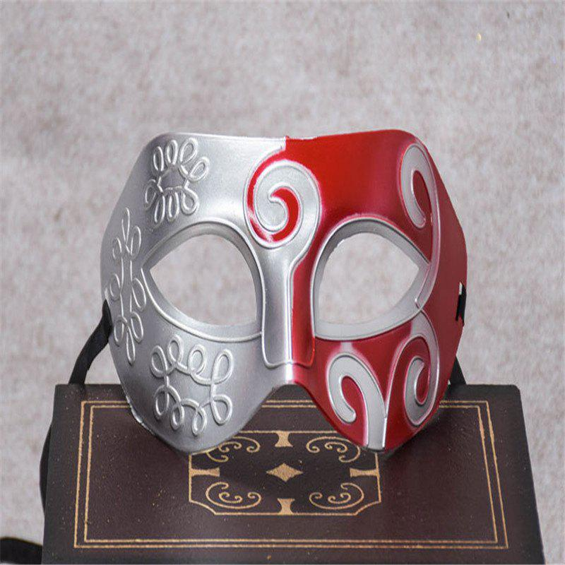 Masquerade Party Mask Jazz Mask Prince Carved Mask Half Face Dance Masks - RED
