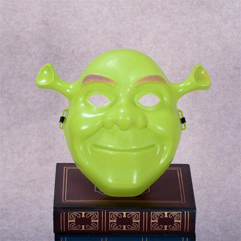 Green Shrek Latex Masks Movie Cosplay Prop Adult Animal Party Mask for Halloween - GREEN