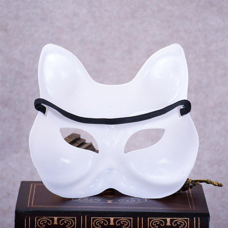High Quality Fox Half Face Plastic White Women's Sexy Masks Cosplay Halloween Decoration - WHITE