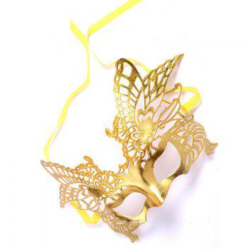 Sexy Women Girls Eye Mask Plating Hollow Eagle Half Face Mask Bar Nightclub Mask Dance Party Supplies -  YELLOW