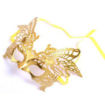 Sexy Women Girls Eye Mask Plating Hollow Eagle Half Face Mask Bar Nightclub Mask Dance Party Supplies - YELLOW YELLOW