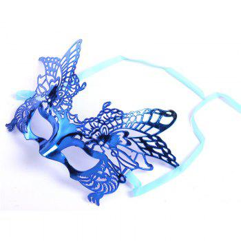 Sexy Women Girls Eye Mask Plating Hollow Eagle Half Face Mask Bar Nightclub Mask Dance Party Supplies - BLUE BLUE