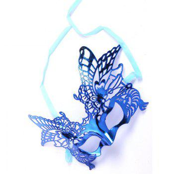 Sexy Women Girls Eye Mask Plating Hollow Eagle Half Face Mask Bar Nightclub Mask Dance Party Supplies -  BLUE