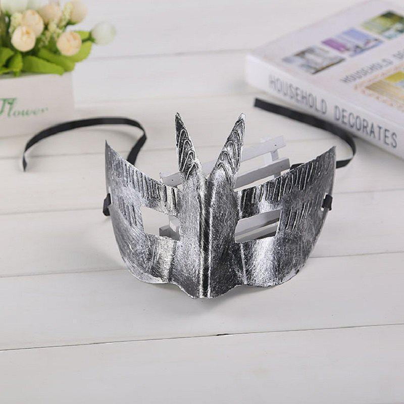 Retro Greek Roman Soldier Bat Mask Party Masquerade Ball Mardi Gras Facial Eye Mask Men Christmas New Year - SILVER