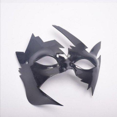 Masquerade Halloween Mask Maple Leaves Plastic Masks Vintage Style Birthday Party - BLACK