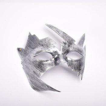 Masquerade Halloween Mask Maple Leaves Plastic Masks Vintage Style Birthday Party - SILVER SILVER
