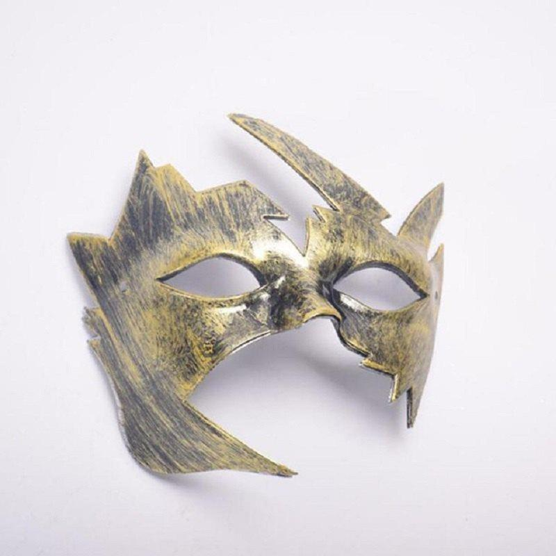 Masquerade Halloween Mask Maple Leaves Plastic Masks Vintage Style Birthday Party - GOLDEN