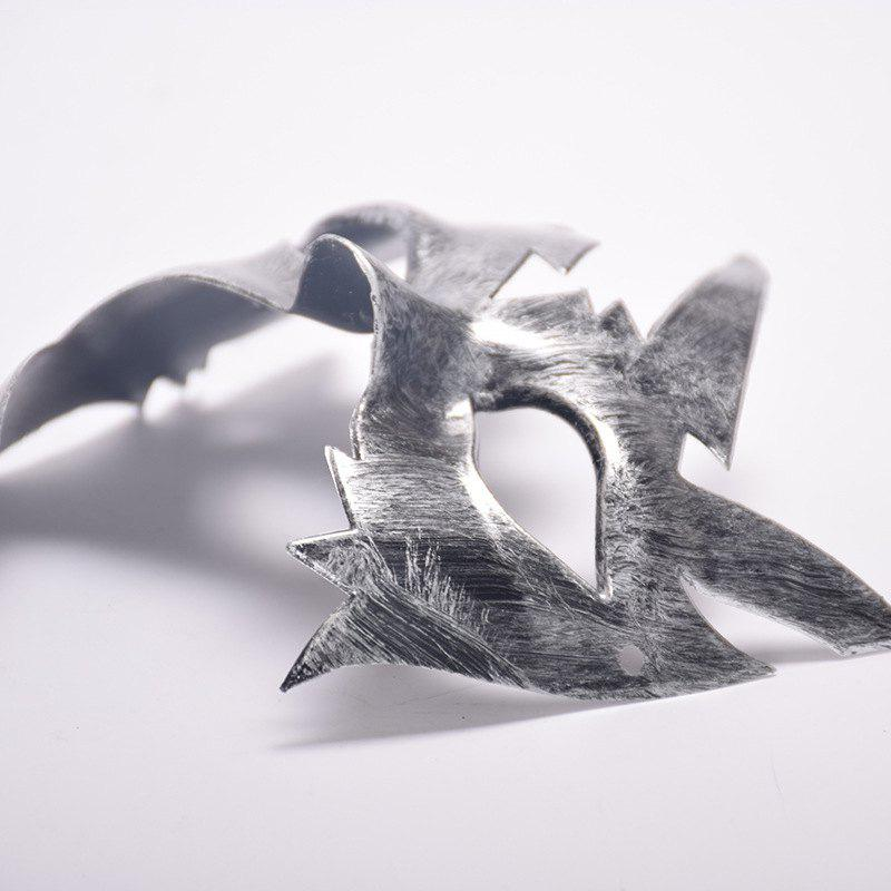 Masquerade Halloween Mask Maple Leaves Plastic Masks Vintage Style Birthday Party - SILVER