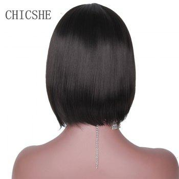 CHICSHE Black Bob Short Synthetic Wigs for Black Women Heat Resistant Hairpieces -