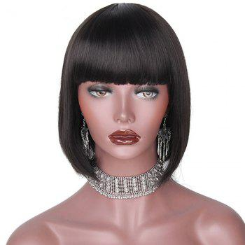 CHICSHE Black Bob Short Synthetic Wigs for Black Women Heat Resistant Hairpieces - 1