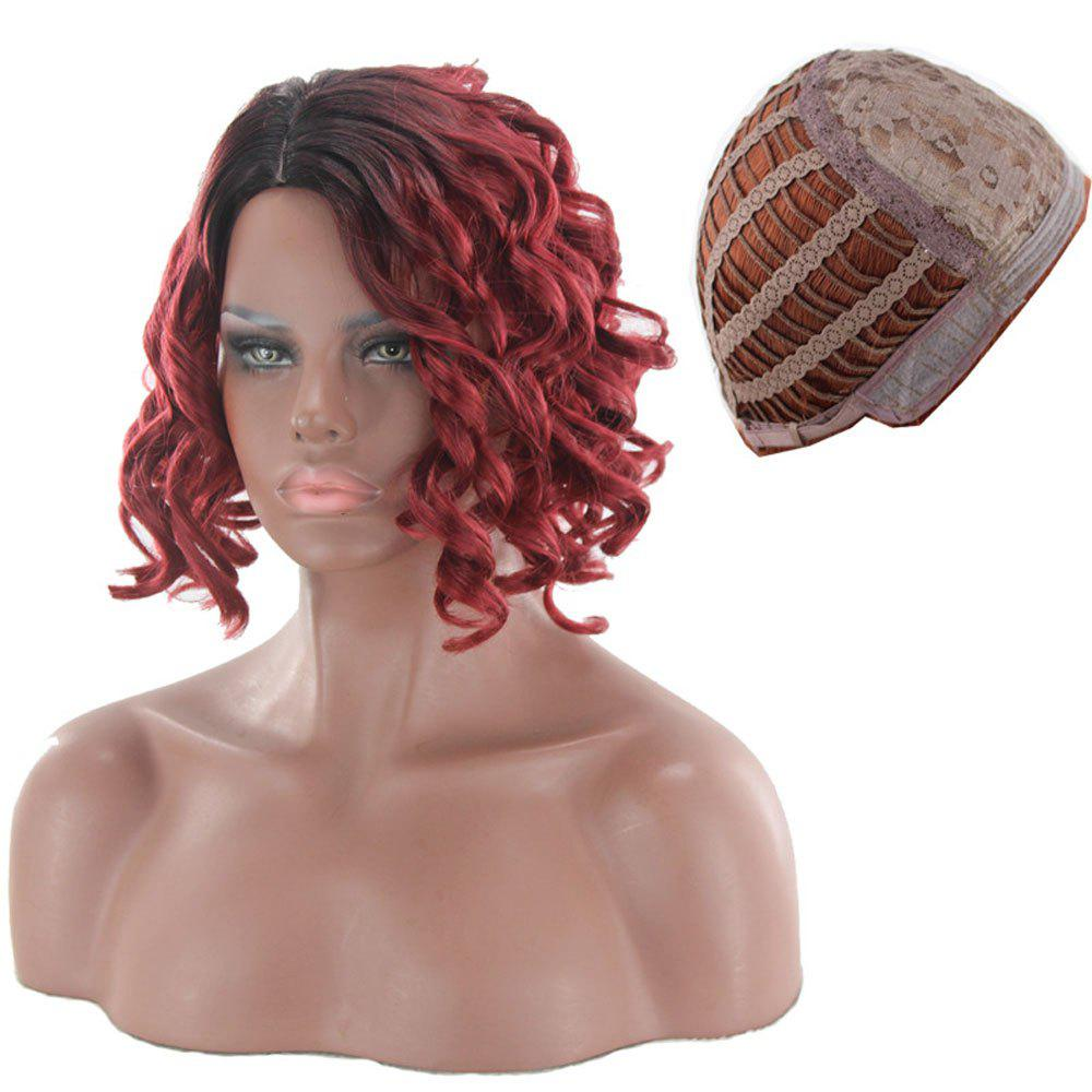 Ladies Fluffy Pear Roll Wigs - BURGUNDY