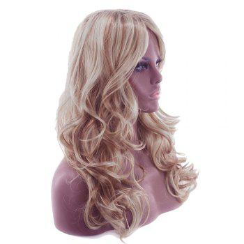 Ladies Fashion Partial Fluffy Long Curly Hair Wig - BROWN