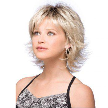 Ladies Short Fluffy Curly Hair Wigs - GOLDEN